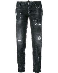 DSquared² Distressed Cropped Jeans