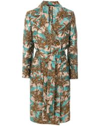 Tagliatore - Jacquard Double-breasted Coat - Lyst