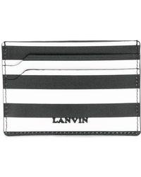 Lanvin - Striped Logo Cardholder - Lyst