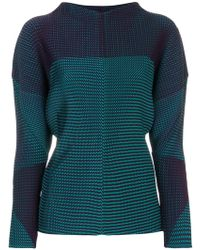 Issey Miyake - Relaxed Fit Pleated Sweatshirt - Lyst