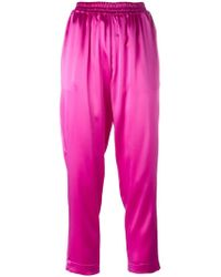 Gianluca Capannolo - Satin Tapered Trousers - Lyst