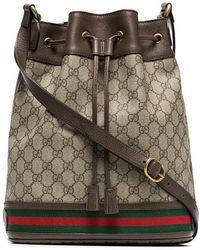 4f38dbb6388f Prada Bucket Style Shoulder Bag in Black for Men - Lyst