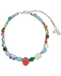 Rada' - Multicoloured Stone Necklace - Lyst
