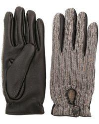 Lardini - Herringbone Embroidered Gloves - Lyst