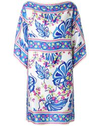 P.A.R.O.S.H. - Floral Printed Kaftan Dress - Lyst
