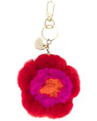 Twin Set - Floral Embroidered Keyring - Lyst