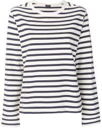 JOSEPH - Striped Sweatshirt - Lyst