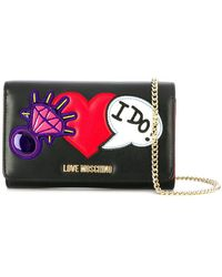 Love Moschino - Heart Embellished Chain Wallet - Lyst