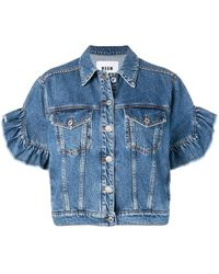 MSGM Kurzärmelige Jeansjacke