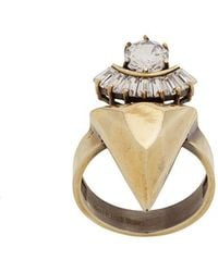 Iosselliani - White Eclipse Stacked Spike Ring - Lyst