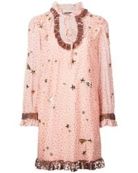 COACH - Outerspace Print Dress - Lyst