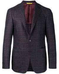 Canali - Check Pattern Classic Jacket - Lyst