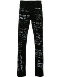 grafiti fitted trousers - Black Études Studio Enjoy Sale Prices Discount Prices 2VwRHxQ