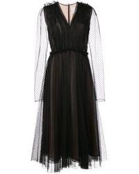 Jason Wu - Polka Dot Pleated Dress - Lyst