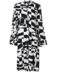 FEDERICA TOSI - Abito Abstract Print Shirt Dress - Lyst