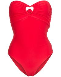 Paper London - Florentine Red Cutout Swimsuit - Lyst