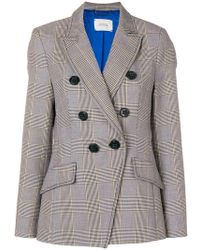 Dorothee Schumacher - Plaid Double Breasted Jacket - Lyst