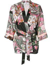 Blugirl Blumarine - Printed Belted Kimono - Lyst