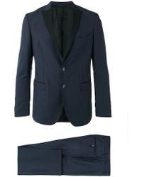 Tonello - Contrast Lapel Suit - Lyst
