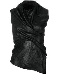 Rick Owens Lilies - Asymmetric Wrap Blouse - Lyst