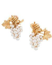 Oscar de la Renta - Pearl Grape Earrings - Lyst