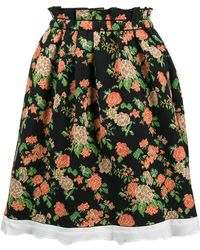 MSGM | Flared Floral Skirt | Lyst