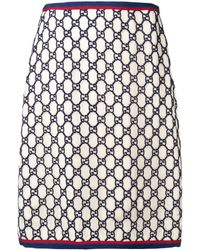 Gucci Supreme Jacquard Skirt - Black