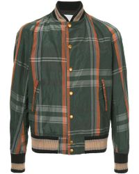 Kolor - Checked Bomber Jacket - Lyst