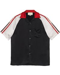 Gucci - Acetate Bowling Shirt With Stripe - Lyst