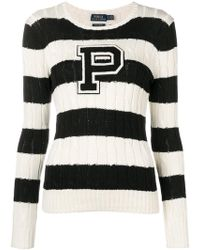 Polo Ralph Lauren - Striped Cable Knit Jumper - Lyst