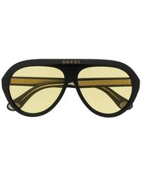 f1b4aee228729 Lyst - Gucci Tinted 51mm Oval Sunglasses in Brown for Men