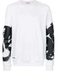 Bikkembergs - Printed Sleeve Sweatshirt - Lyst
