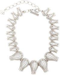 Oscar de la Renta - Multi Tulips Necklace - Lyst