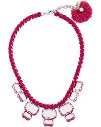 Rada' - Chunky Rhinestone Necklace - Lyst