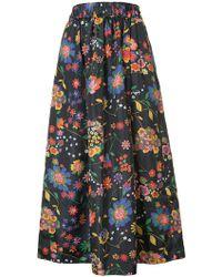 Tibi - Floral Print Full Skirt - Lyst