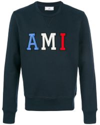 AMI - Sweatshirt Patched Ami Letters - Lyst