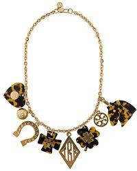 Tory Burch - Tortoiseshell Charm Necklace - Lyst