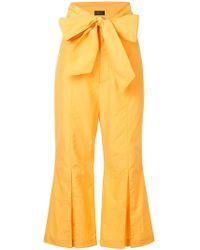 G.v.g.v - Wide Belt Cropped Trousers - Lyst