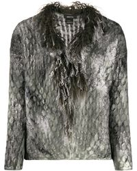 Avant Toi - Textured Fitted Sweater - Lyst