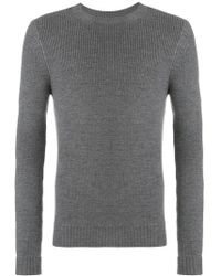 Al Duca d'Aosta - Rib Knit Fitted Sweater - Lyst