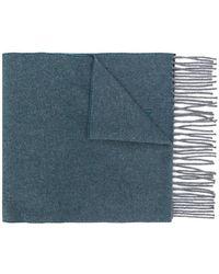 Corneliani - Fringed Knitted Scarf - Lyst
