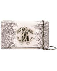 50da5fecd20a Roberto Cavalli - Snake Plaque Shoulder Bag - Lyst