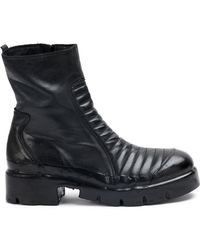 Oxs Rubber Soul - Ribbed Panel Boots - Lyst