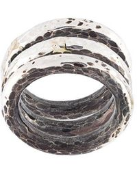 Henson - Hammered Ring Set - Lyst