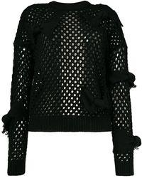 RED Valentino - Fishnet Knit Jumper - Lyst