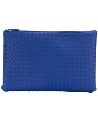 Bottega Veneta - Large Woven Clutch Bag - Lyst