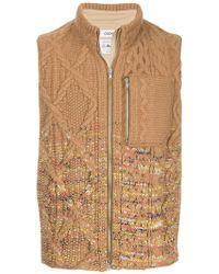 Coohem - Aran Knit Zipped Vest - Lyst