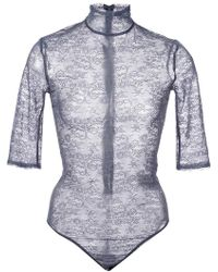 Nina Ricci - Sheer Embroidered Bodysuit - Lyst