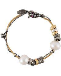 Iosselliani - 'silver Heritage' Pearl Bracelet - Lyst
