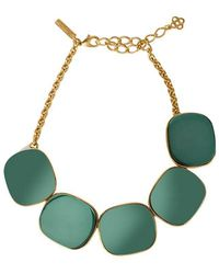 Oscar de la Renta - Geometric Necklace - Lyst